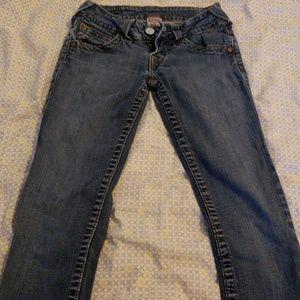 True Religion straight leg jeans, 25